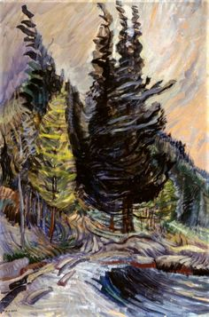 Trees by Emily Carr Canada) Tom Thomson, Canadian Painters, Canadian Artists, Totems, Matisse, Emily Carr Paintings, Women Artist, Art Chinois, House Painter