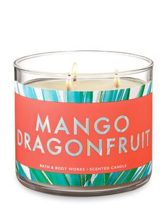 Mango Dragonfruit Candle - Bath And Body Works Bath Candles, 3 Wick Candles, Scented Candles, Candy Themed Bedroom, Best Smelling Candles, Lip Scrub Homemade, Bath And Body Works Perfume, Candle Store, Bath And Bodyworks