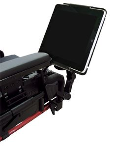 Ipad holder for Wheelchair.  >>> See it. Believe it. Do it. Watch thousands of spinal cord injury videos at SPINALpedia.com