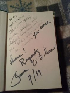 Signed Book The Daisy Chain by James O'Shea by SecondHandShaw