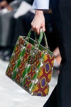 Divine snakeskin handbag #Dior in #ParisFashionWeek #SpringSummer2014