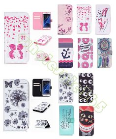 For Samsung LG iPhone Anti-Scratch Case Flip Stand ID Credit Card Leather Cover