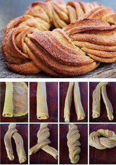 How To Make a Braided Cinnamon Wreath