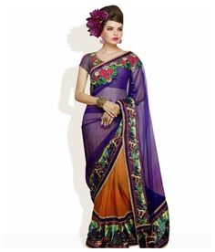 Triveni Self Design Embellished Net Sari @ 3015 | SuperHitDeals