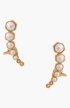 Rachel Zoe 'Sophia' Faux Pearl Ear Cuff
