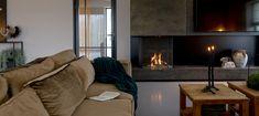 Haarden inspiratie: haard met verrassende afw... - UW-haard.nl Minimalist, Wood, Design, Home Decor, House Ideas, Fire, Decoration Home, Woodwind Instrument, Room Decor