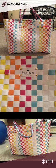 Kate Spade Bag Kate Spade Woven Bag. Great bag, used once. Smoke free home. kate spade Bags Totes