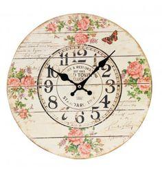 Reloj pared Shabby Liberty Mariposa