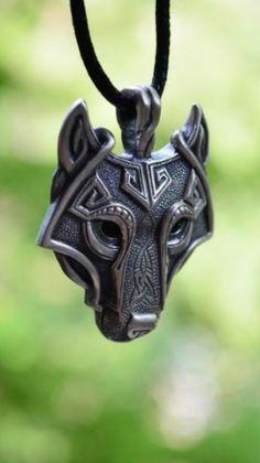 Viking Wolf pendant.