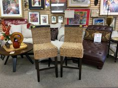 NEW DEALS ARRIVE ALL DAY LONG AT NEW USES: Fabulous & Comfortable Wicker Counter Height Bar Stools in Great Condition priced @ just $35 per!