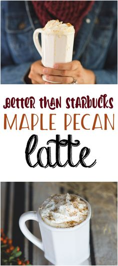 Starbucks Maple Pecan Latte Recipe | Fall Drink Recipes | Holiday Hot Drinks | Coffee Bar | Copycat Recipes Latte