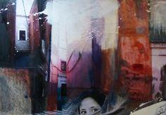 """""""marrakesch I"""", Acrylcollage, Monika  Stoffel"""