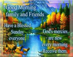 Good Morning Family And Friends, Have A Blessed Sunday Everyone good morning…