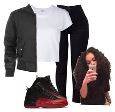12's⚫️ by baddiest-bish on Polyvore featuring polyvore fashion style RE/DONE WearAll Pacific Beach clothing
