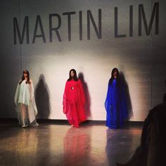 Tri-coloured trio #martinlim #mfw24 - @patriciagajo- #webstagram