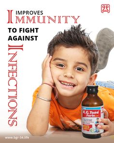 #KGToneFOrte : Improves #immunity to fight against #infections. #KidsGrowth #AyurvedicMedicine #HerbalMedicine #Tonic #ImmunityBooster