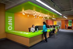 circulation desk with bold graphics wight company visit us at - Library Circulation Desk Design