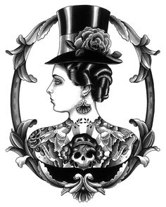 Hey, I found this really awesome Etsy listing at https://www.etsy.com/listing/160710528/victorian-tattooed-lady-tattoo-print