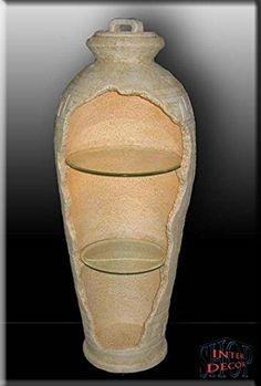Griechische Vase Amphore Bar Vitrine Rundregal Regal Eckvitrine Mäander