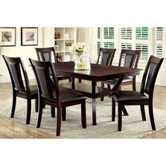 Furniture of America Dionne Dark Cherry 7-piece Dining Set - Overstock Shopping - Big Discounts on Furniture of America Dining Sets