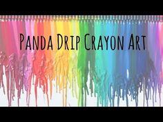 Panda Drip Crayon Art - YouTube