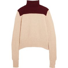 Marni Two-tone alpaca-blend turtleneck sweater (1.210 BRL) ❤ liked on Polyvore featuring tops, sweaters, shirts, marni, yoke shirt, ribbed turtleneck, turtleneck shirt, marni sweater and turtle neck shirt