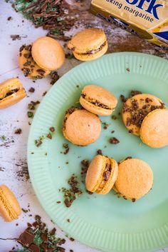 Peppermint Crisp Tart Macarons - World Baking Day Recipe