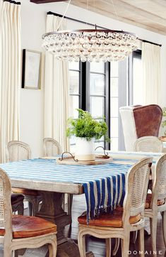 """When it came time to decorate, Stanley says she and her clients were """"really all on the same page with style."""" Stanley mixed the couple's existing collection of French and..."""