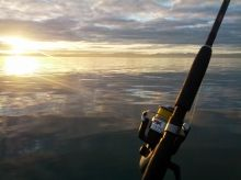 Great view into the sunrise during kayak fishing trip