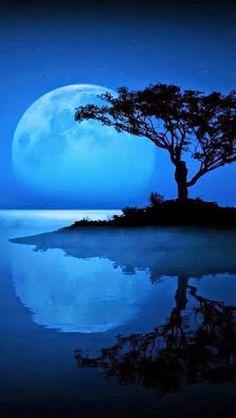 Image result for full moon over ocean