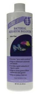 Microbe-Lift Bacterial Balancer 16 oz. For Aquariums - Reef Marine and Freshwater Safe. Bacterial Product Treats up to 1900 gallons. ODOR FREE. Prevents new tank syndrome. Helps to eliminate ammonia and nitrate. Provides rapid reduction of organic waste. Helps to clean power filters ornaments and gravel. Helps to reduce fish loss. Also available in 4 oz. Royal Item Number: AEL20453