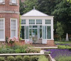 The late Victorian / early Edwardian era brought an interesting introduction of decorative flourishes, borrowing styles from a number of historical periods. The Edwardian conservatories seen here are typical examples and incorporate many such features. Edwardian Conservatory, Orangery Conservatory, Conservatory Kitchen, Conservatory Ideas, Garden Pavilion, Outdoor Spaces, Gazebo, Home And Garden, Garden Path