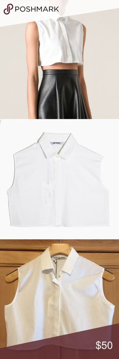 Neil Barret White button down crop top New w tags Neil Barrett button down crop top. Size Medium. 14 inches in length. Neil Barrett Tops Crop Tops