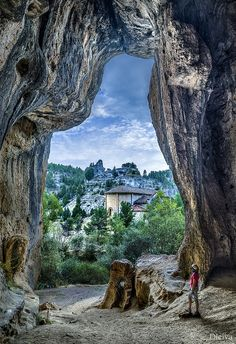 *SPAIN ~ Chapel of St. Bartholomew in the interior of Rio Lobos Canyon Natural Park (Soria, Spain) Chapel of St. Bartholomew in the interior of Rio Lobos Canyon, in the area known as El Colmenar de Los Frailes, the chapel was. Places Around The World, The Places Youll Go, Places To See, Around The Worlds, Wonderful Places, Beautiful Places, Destinations, Natural Park, Spain And Portugal