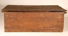 Rare 17th century document box red oak