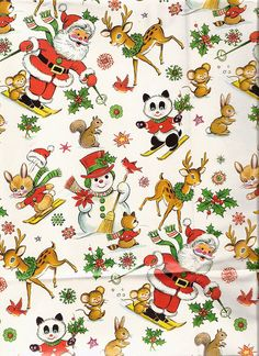 vintage christmas paper by lorryx3, via Flickr