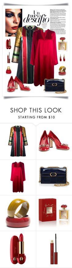 """""""Etro Striped Jacquard Coat Look"""" by romaboots-1 ❤ liked on Polyvore featuring Lara, Etro, Dolce&Gabbana, Forte Forte, Tory Burch, Roja Parfums, Guerlain, Kevyn Aucoin and Christian Dior"""
