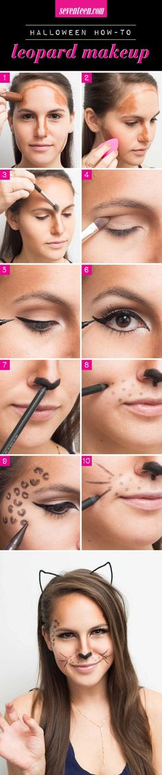 When planning a full-out Halloween costume feels like too much work, let makeup come to your rescue. There's no need to buy anything either. All of these looks can be done with products you probably already have in your makeup bag. Start each with a clean, moisturized face and finish with a spritz of setting spray to ensure your look lasts all night.
