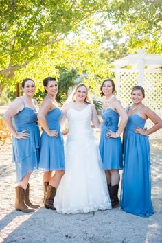 Western Wedding Bridesmaids