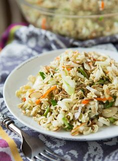 This Crushed Asian Ramen Salad recipe makes for a new and delicious salad experience. Try it out for dinner! Asian Ramen Salad, Ramen Noodle Salad, Ramen Noodles, Antipasto, Cookbook Recipes, Cooking Recipes, Asian Recipes, Healthy Recipes, Diabetic Recipes
