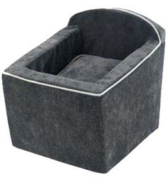 Microvelvet Thunder Granite Dog Car Seats by Bowsers (More Colors)