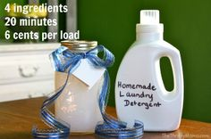 Making Your Own Laundry Detergent: 25 Recipes , Homemade Laundry Soap: Liquid Detergent Recipe