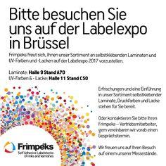German invitation to LabelExpo 2017 Germany, Invitations, Deutsch, Invitation