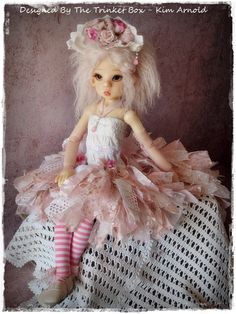 shabby chic ooak dress set