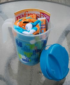 end of the year teacher gift in pitcher...fun in the sun theme...