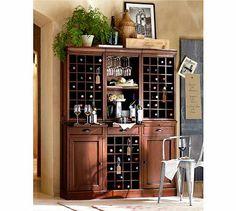 Modular Bar System With 1 Wine Hutch & 2 Open Hutch