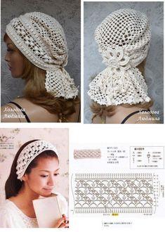Crochet Hooded Scarf, Crochet Beanie Pattern, Crochet Scarves, Crochet Clothes, Bonnet Crochet, Crochet Cap, Crochet Motif, Crochet Designs, Sombrero A Crochet