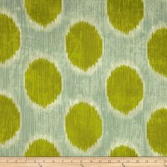 Amazon.com: Braemore Dots Are Hot Ikat Grass Fabric By The YD: Fabric.com