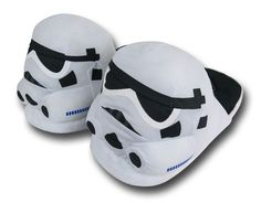Star Wars Stormtrooper Plush Slippers. You'll never hit the furniture if you're wearing these.