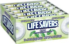 LifeSavers Spear-O-Mint Hard Candy (not the sugar free version). Feingold stage one. Contain corn syrup. Mint Candy, Hard Candy, Life Savers, Corn Syrup, Adhd, Dorm Room, Violin, Gourmet Recipes, Kids Meals